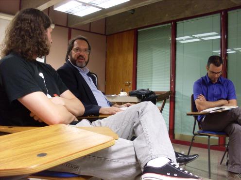 Maurício de Almeida, Marco Aurélio Cremasco e Nereu Afonso da Silva, todos eles vencedores do Prêmio SESC de Literatura
